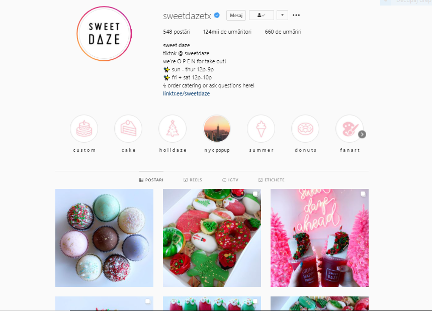 Sweet Daze este unul dintre cele mai cool conturi de dulciuri